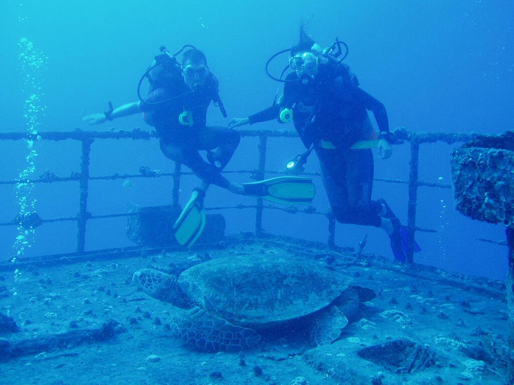Sea Tiger Shipwreck Scuba Diving Honolulu Hawaii 96814